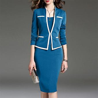 Women Suit And Vest Dress, Office Sets Skirt, Plus Size, Blazer Set