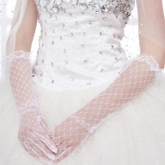 Women Lace Long Gloves Length Full Finger Wedding Accessories