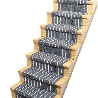 Dolls House Slate Grey Striped Stair Carpet Runner Self Adhesive 1:12 Flooring
