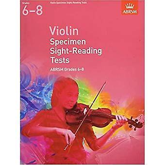 Geigenproben-Sichtmesstests, abrsm grades 6-8: ab 2012 (abrsm sight-reading)