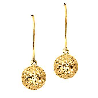 14K Yellow Gold Ball Drop Earrings