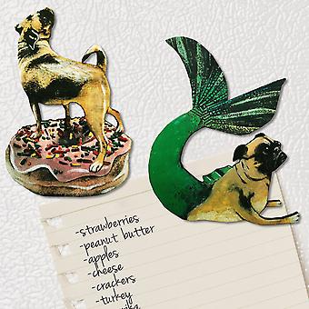 Pug Mermaid And Dog On Donut Magnets