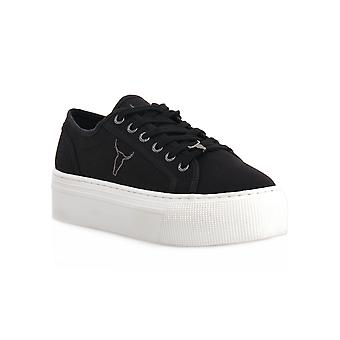 Windsor smith ruby canvas black sneakers fashion