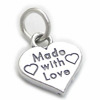 Made With Love Sterling Silver Charm .925 X 1 Love Charms - 4108