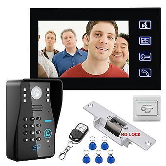 Video-ovi puhelimen sisäpuhelin ovikello ir-kameralla