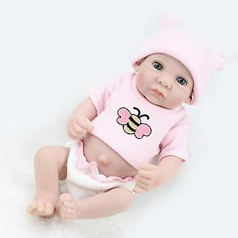 28cm Handmade Real Looking Newborn Open Eyes Baby Doll