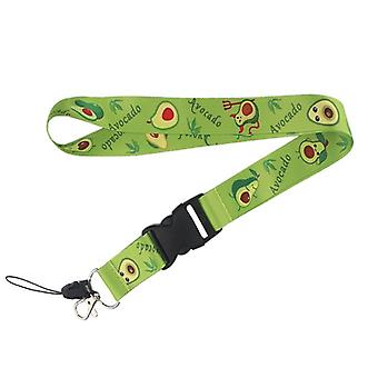 Flyingbee Cute Avocado Nøglering - Cartoon Frugt Telefon Lanyard Strap