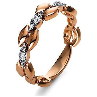 Luna Criação Leger Ring Multiple Stone Trim 1S038R854-1 - Largura do anel: 54