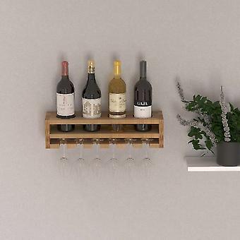 Rack de garrafa de cor de madeira poseidon, L48xP13.8xA12 cm
