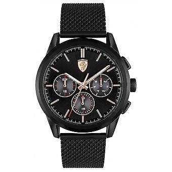 Scuderia Ferrari | Grand Tour | Black Mesh Bracelet | Black Dial | 0830807 Watch