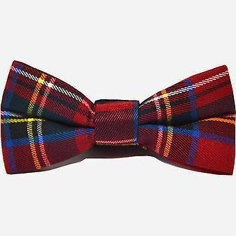 Perinteinen punainen &; Keltainen Tartan Check Bow Tie, Solmio &; Pocket Square -setti