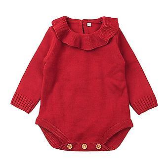 Новорожденный ребенок свитер Боди вязать зимние теплые комбинезоны