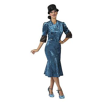Costume for adults 1920's blue