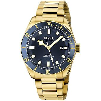 Gevril Yorkville Swiss Automatic Blue Dial Men's Diver Watch 48602