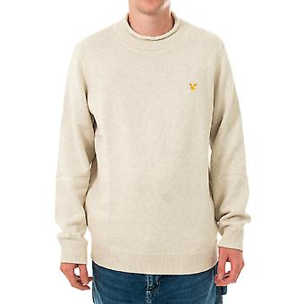 Pull homme lyle & scott entonnoir roll top tricoté jumper kn1365v.w116