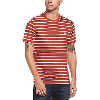 Original Penguin Breton T-Shirt - Red Ochre