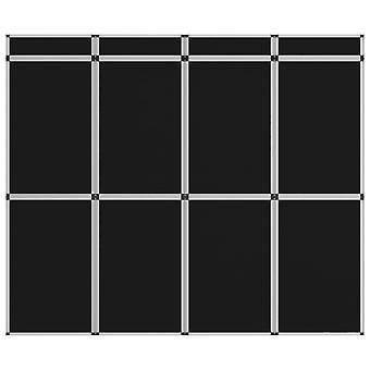 vidaXL 12-panel exhibition wall folding display 242×200 cm Black