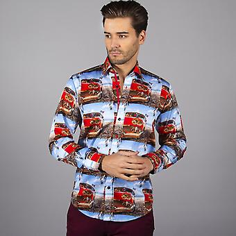 ITEM SEM DESCONTO / VENDA Retro Road Trip Print Mens Shirt