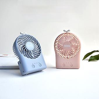 Mini tuuletin roikkuu kaula luova säädettävä kulma söpö kannettava USB-tuuletin