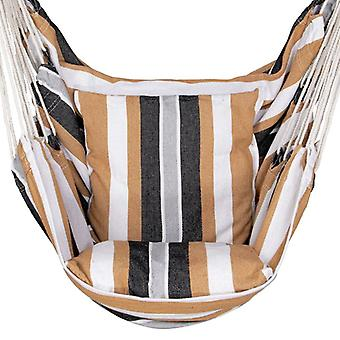 Hangstoel 130x100 cm beige bruin gestreept – Inclusief kussens