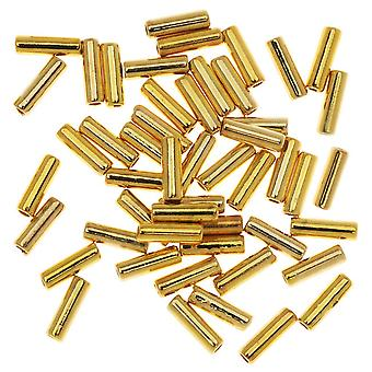 Final Sale - Beads, Tube 5x1.5mm, 50 Pieces, Gold Plated