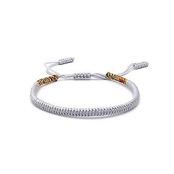 Benava, Tibetan friendship bracelet, Buddhist jewel and metal base, color: Grau, cod. 0032-Grau