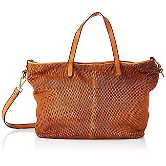 Think! Women's bag in pelle_3-000382 Shopper, one size, Brown (3000 cognac.), Single size