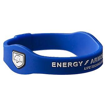 Armură energetică, Brățară siliconică Unisex, Unisex - Adult, 001-031-01-05-XL, Albastru/Alb, XL