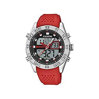 Calypso Uhren Analog-Digital Quarz Herrenuhr mit Kunststoffarmband K5774/2