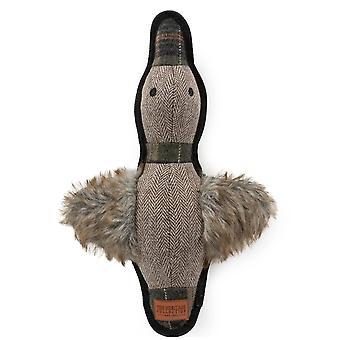 Heritage Tweed Duck Dog Squeak Toy