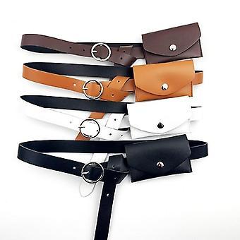 Women Waist Leather Belts Bags