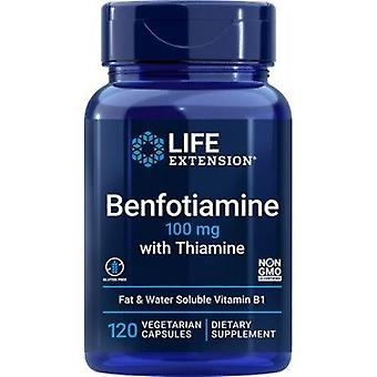 Life Extension Benfotiamine met Thiamine 100mg Vegicaps 120