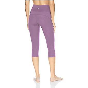 Core 10 Women's Standard Nearly Naked Yoga High Waist Capri Legging-21, Black Large