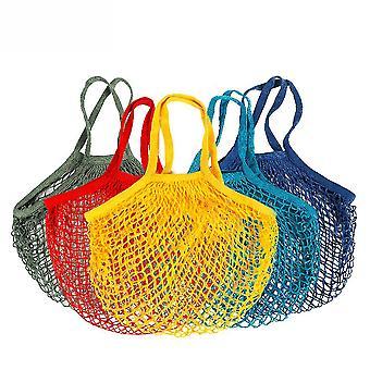 Чистая хлопчатобумажная сетка мешок портативный хлопок мешок хлопчатобумажной сетки мешок супермаркет овощной и фруктовый мешок мешок