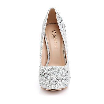 Fabulicious Women's Shoes DESTINY-06R Slv Glitter Mesh Fabric