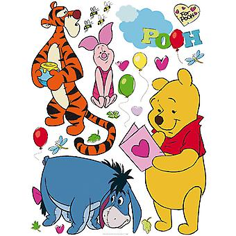 Adhesive wall decoration Disney Winnie the Pooh & Friends 65x85cm