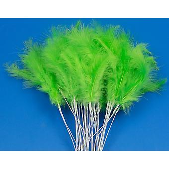 36 Lime Green 28cm Feather Spray Picks för Blomsterhandlare och hantverk
