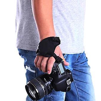 Kameran pu-nahkakahva, nopea rannehihna, pehmeä käsilaukku, Olympus musta