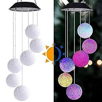 Solar Powered Wind Chime Light, LED Garden Hanging Spinner Lamp, Solar Garden Lights, Color