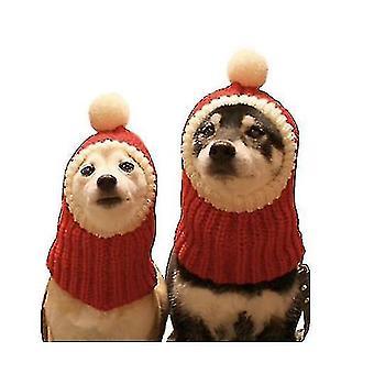 Söpö santa hat huivi joulupuku puku pukeutua lemmikkieläinten muoti joulu lisävaruste (M)