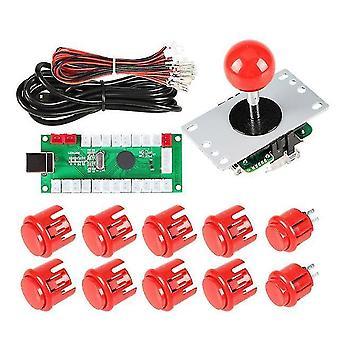 1 Player arcade diy kit usb encoder to pc arcade joystick buttons for usb mame pc game diy &
