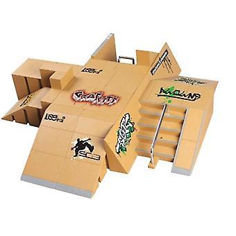 11pcs Skate Park Kit Ramp Teile für Tech Deck Griffbrett Mini Finger Skateboard GXMB