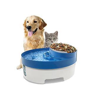 3 in 1 Haustier Wasserbrunnen für Katze Hund Automatische Futter Schüssel Geschirr Feeder Spender