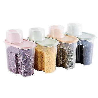4pcs Doméstico Transparente Plástico Airtight Jar