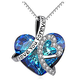 Herz Halskette 925 Sterling Silber Anhänger Herz des Meeres Clavicle Choker