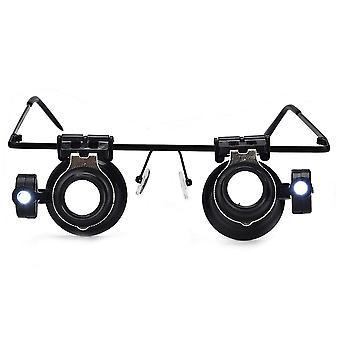 20x Head Mount Magnifier, Jewelry Repair Eyeglass Type Magnifying Lens
