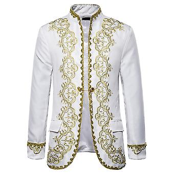 Silktaa Men's Luxury Dinner Dress Suit Party Embroidery Blazer
