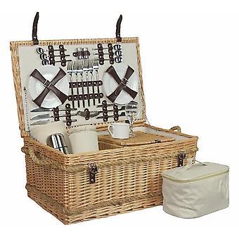 Premium complet montate 6 persoană picnic coș