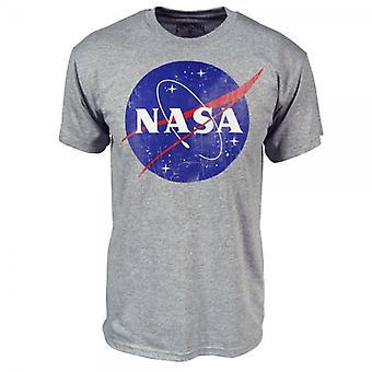 NASA para hombre NASA Logo T Shirt gris