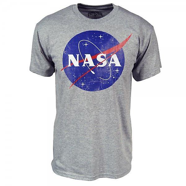 NASA Mens NASA logotipo T camisa cinza
